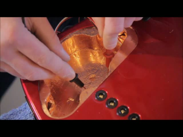 Installing Copper Foil For Bass Guitar