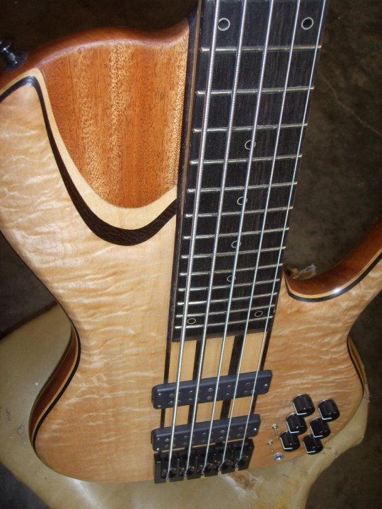 josh inouye s chambered single cut neck through 5 string ebass. Black Bedroom Furniture Sets. Home Design Ideas