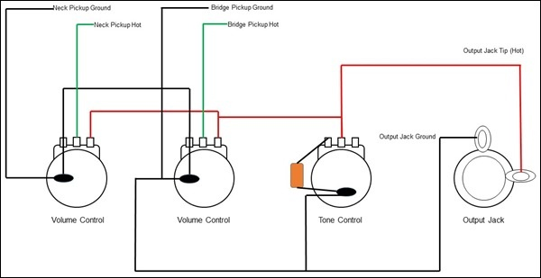 Passive Tone Controls Explained on guitar wiring diagrams