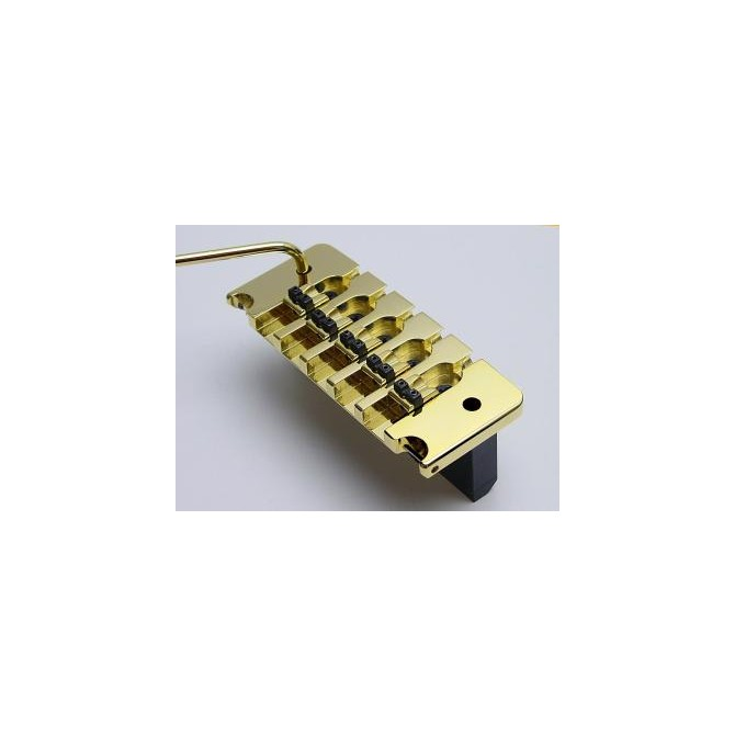 Hipshot Bass Tremolo 5String .750 Bass Bridge Gold 19mm Spacing