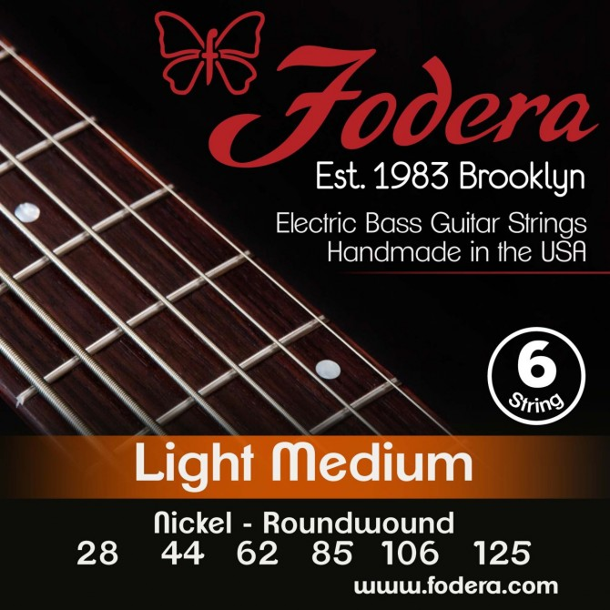 Fodera 28125N Nickel 6 String Light Medium (28 - 44 - 62 - 85 - 106 - 125) Long Scale