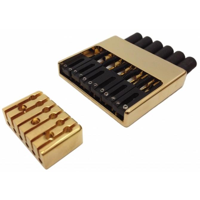 Hipshot Headless System 6String .656 Bass Bridge Gold 16.5mm Spacing