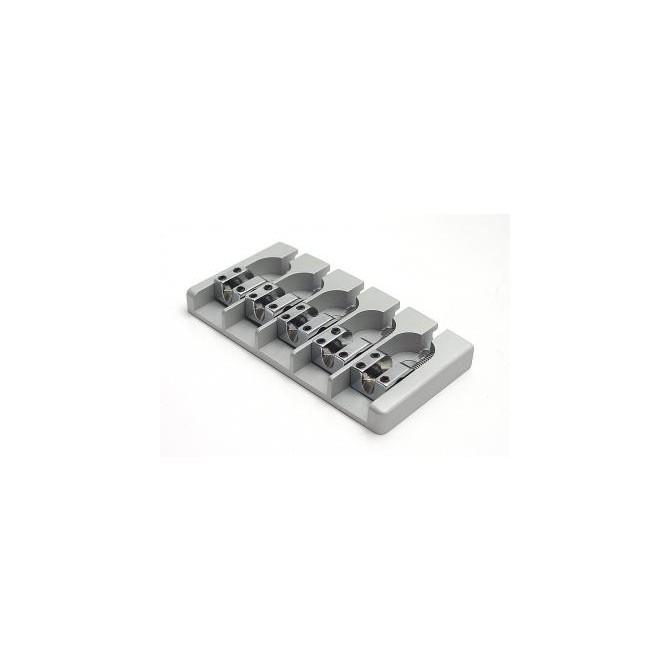 Hipshot AStyle 5String .708 Bass Bridge Aluminum Satin 18mm Spacing