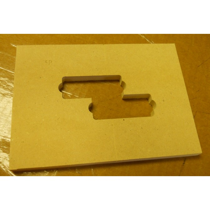 "Mike Plyler 1/2"" Thick MDF Aguilar 5P Size Template"