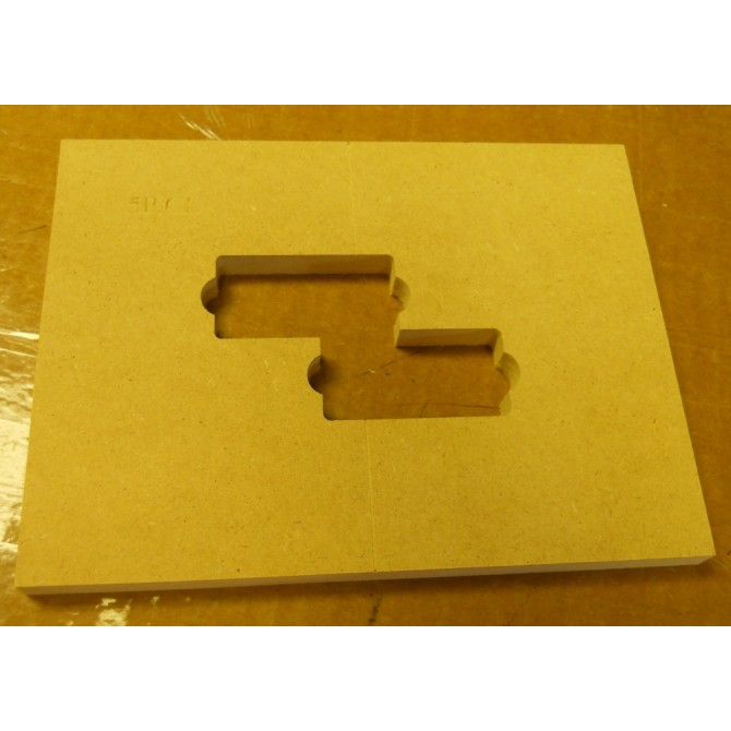 """Mike Plyler 1/2"""" Thick MDF Aguilar 5PCL Size Template"""