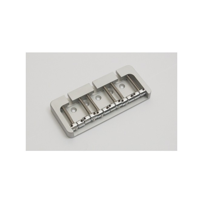 Hipshot BStyle 6String .669 Bass Bridge Aluminum Satin 17mm Spacing