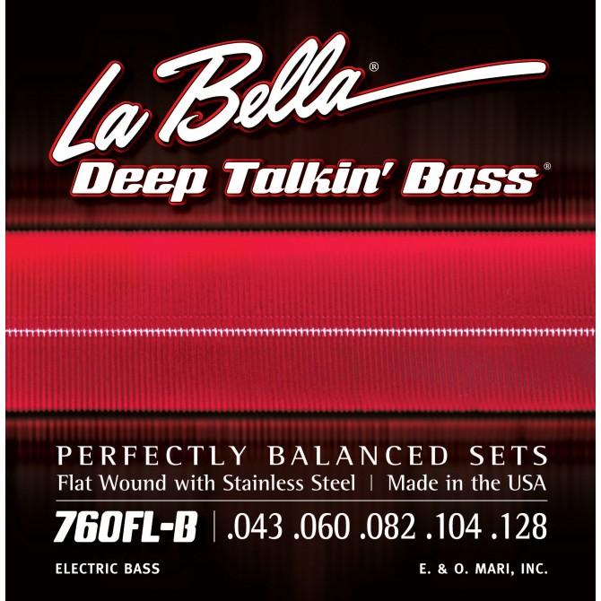 Labella 760FL-B Deep Talkin' Bass Flatwound 5 String Light (43 - 60 - 82 - 104 - 128) Long Scale