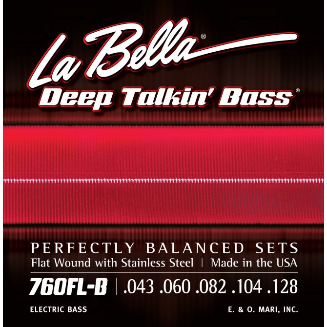 Labella 760FL-B-XL Deep Talkin' Bass Flatwound 5 String Light (43 - 60 - 82 - 104 - 128) Extra Long Scale