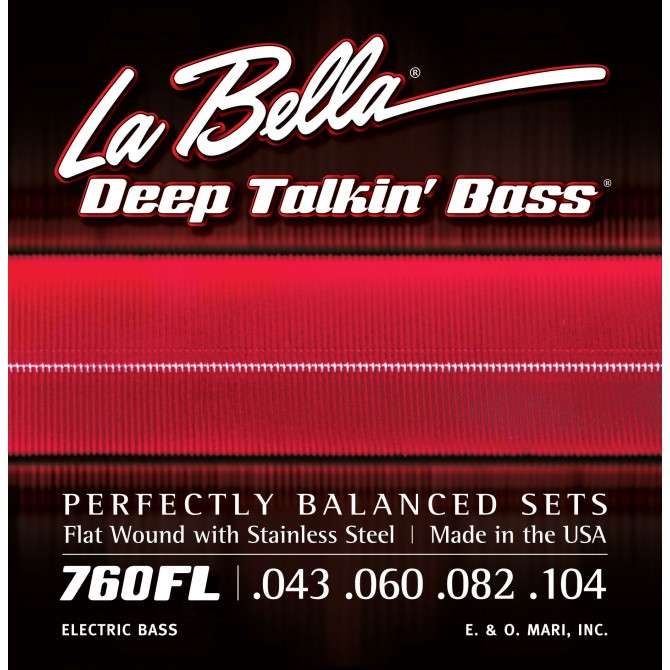 Labella 760FL-M Deep Talkin' Bass Flatwound 4 String Light (43 - 60 - 82 - 104) Medium Scale