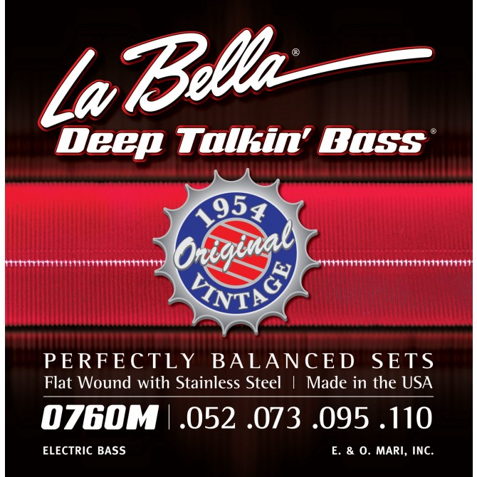 Labella 760M Deep Talkin' Bass Flatwound 1954 4 String Original (52 - 73 - 95 - 110) Long Scale