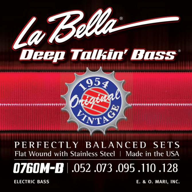 Labella 760M-B Deep Talkin' Bass Flatwound 1954 5 String Original (52 - 73 - 95  - 110 - 128) Long Scale