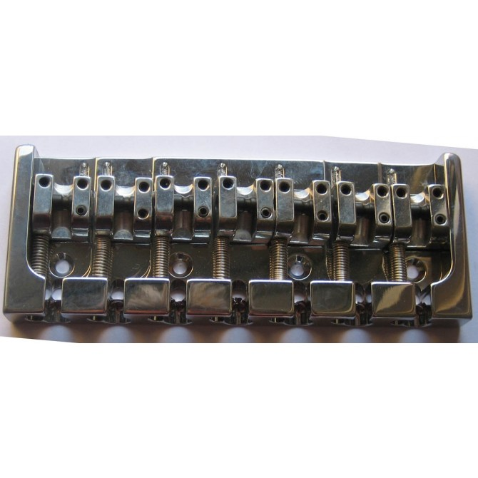Hipshot AStyle 7String .750 Bass Bridge Aluminum Chrome 19mm Spacing