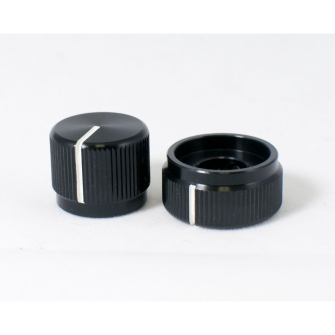 Concentric Stacked Black Aluminum Knob