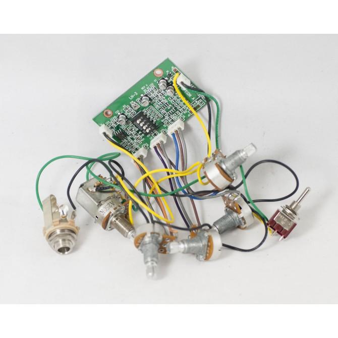 Lakland LH3 2-Pickup 5-Knob 1-Switch 3-Band Vol P/P A/P - Bl - Treb - Bass - Mid - Coil Sel. Sw