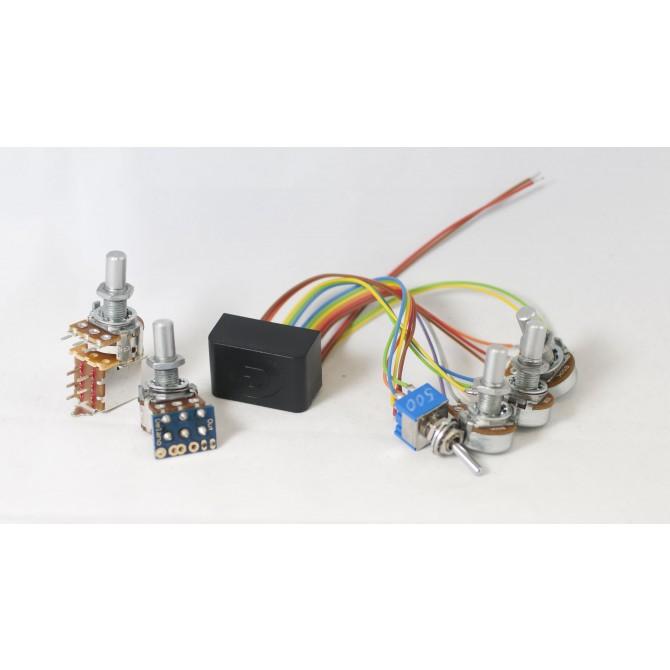 Delano Sonar 3MS/E 2-Pickup 5-Knob 1-Switch 3-Band Vol P/P A/P - Bl - Treb - Mid - Bass - Mid Sw