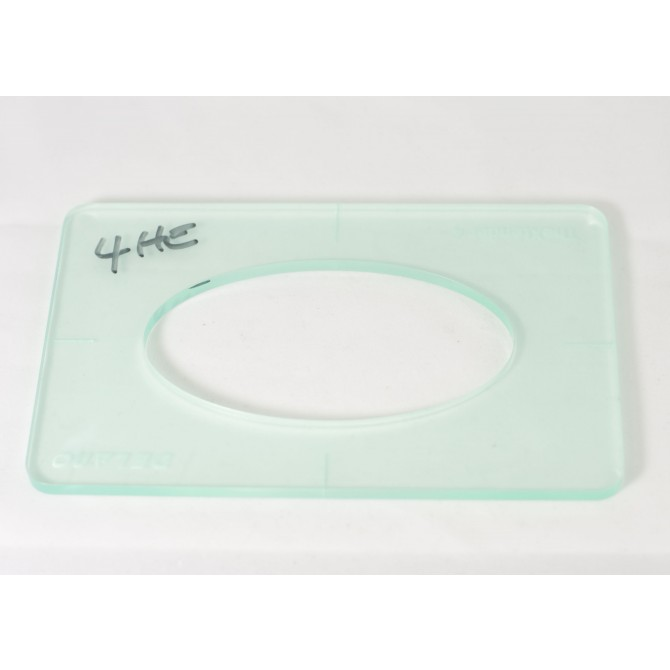 """Delano 1/4"""" Thick Acrylic Xtender 4 Size Template"""