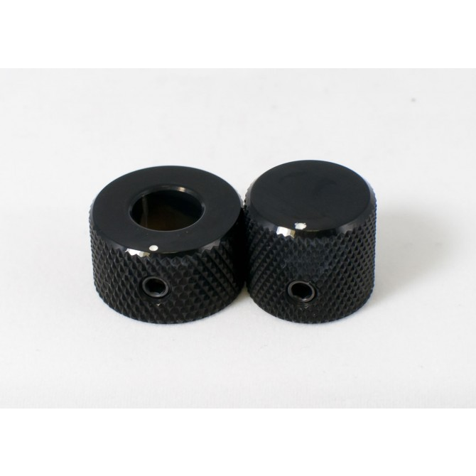 Concentric Stacked Metal Beveled Knob - Black EMG
