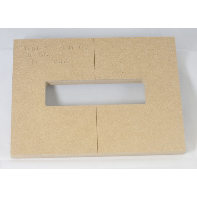 """Mike Plyler 1/2"""" Thick MDF P4 Size Template"""
