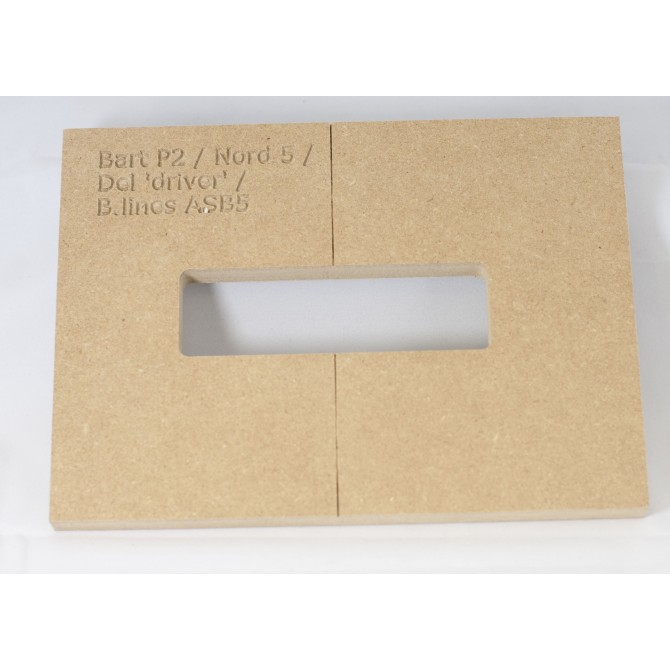 """Mike Plyler 1/2"""" Thick MDF P2 Size Template"""