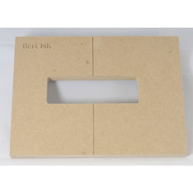 """Mike Plyler 1/2"""" Thick MDF MK Size Template"""