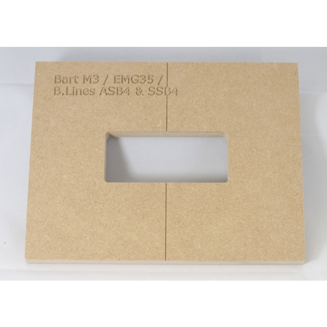 """Mike Plyler 1/2"""" Thick MDF M3(EMG 35) Size Template"""