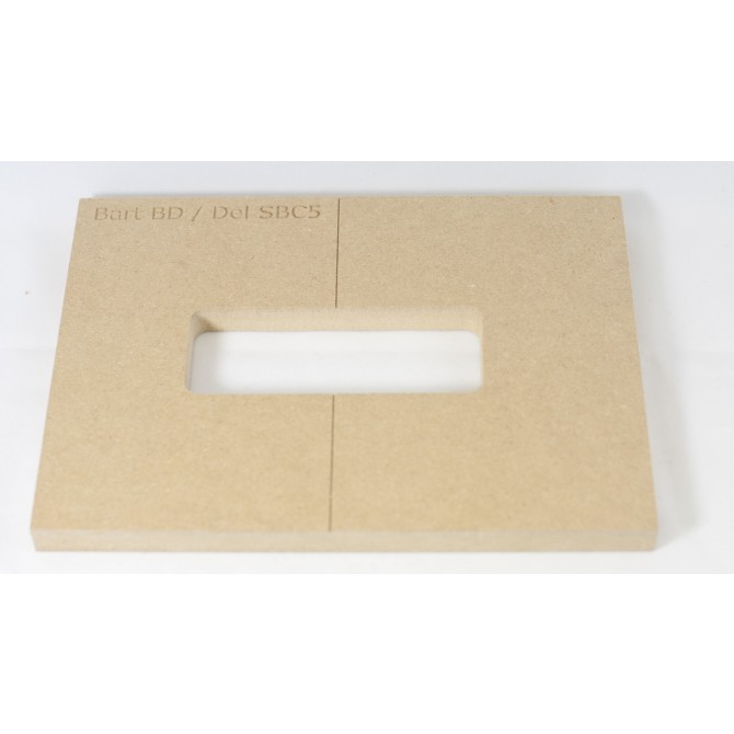"""Mike Plyler 1/2"""" Thick MDF BD Size Template"""