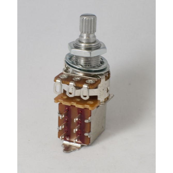 Alpha 25k Volume Potentiometer Audio Taper Push/Pull 6mm Split Shaft