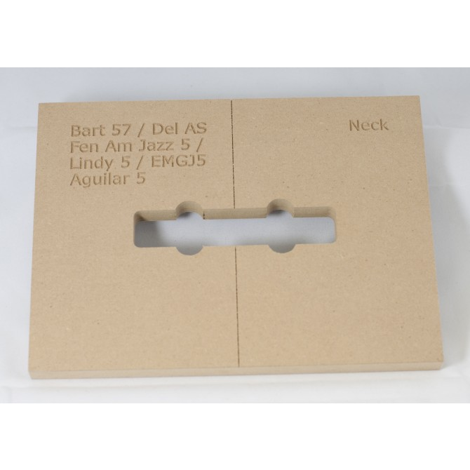 """Mike Plyler 1/2"""" Thick MDF Jazz AS S Size Template"""