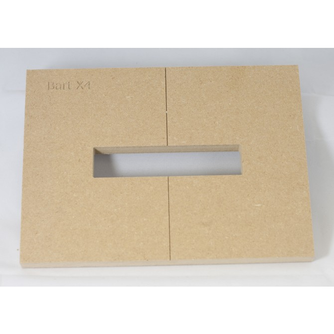 """Mike Plyler 1/2"""" Thick MDF X4 Size Template"""