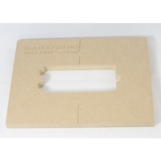 """Mike Plyler 1/2"""" Thick MDF DL5(MusicMan Xtend) Size Template"""