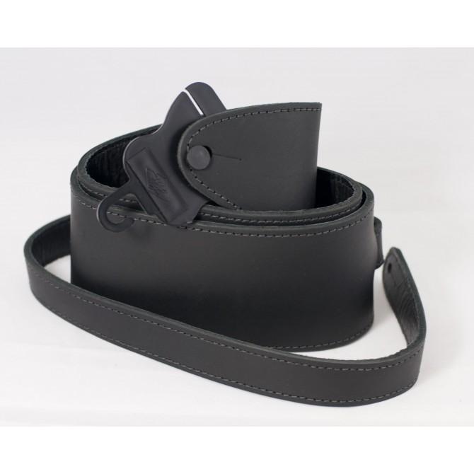 LM Black Ball Glove Leather Bass Guitar Strap