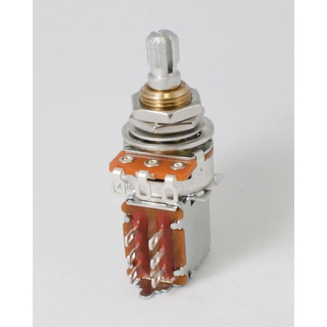 Noble 50k EQ Potentiometer Linear Taper Push/Pull Center Detente 6mm Split Shaft