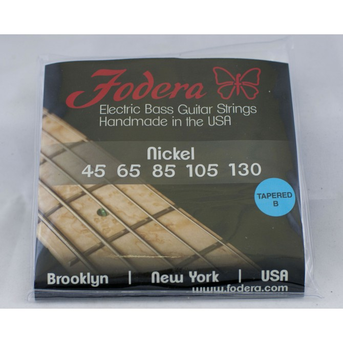 Fodera 45130N-TB Nickel 5 String Medium Tapered B (45 - 65 - 85 - 105 - 130T) Long Scale