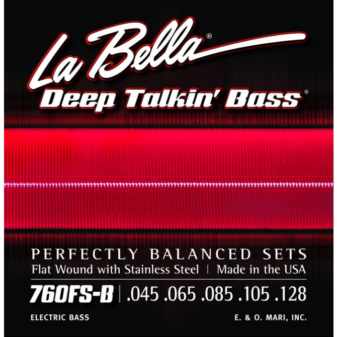 Labella 760FS-B-S Deep Talkin' Bass Flatwound 5 String Standard (45 - 65 - 85 - 105 - 128) Short Scale