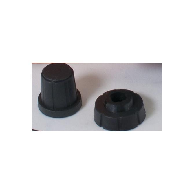 Bartolini Black Plastic Concentric Stacked Knob Set