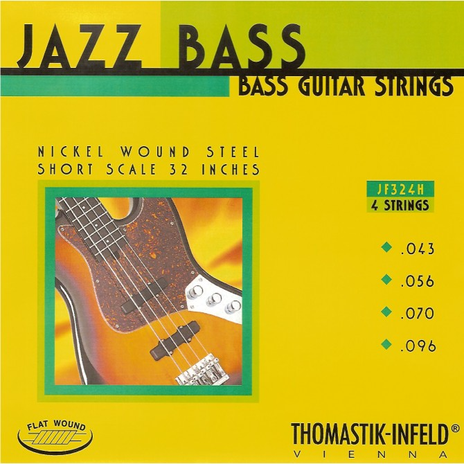 Thomastik-Infeld Hofner JF324H, 4 String, Jazz Bass, Flat Wound  (43, 56, 70, 96)