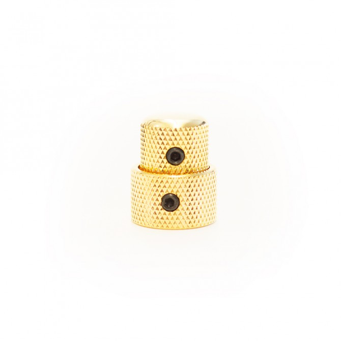 Concentric Stacked Metal Dome Knob - Gold