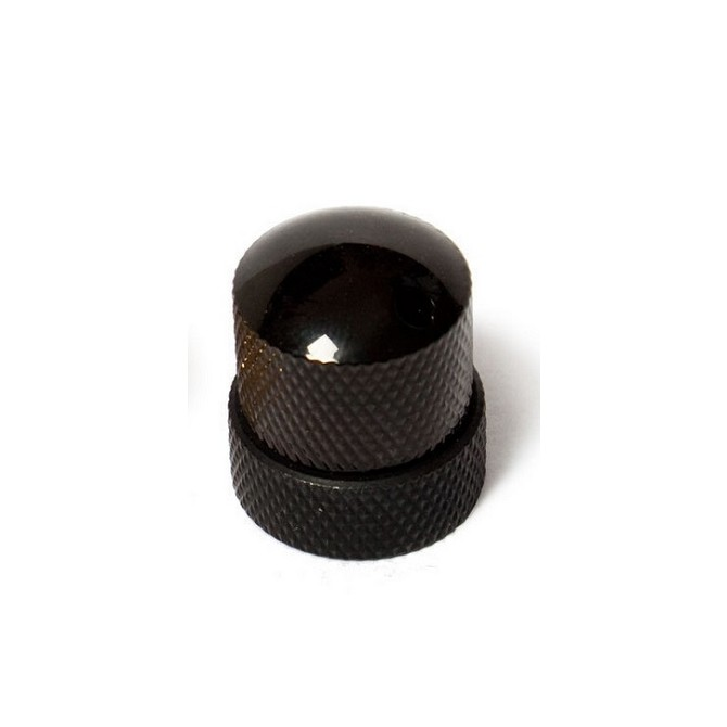 Noll Concentric Stacked Dome Knob (Black)