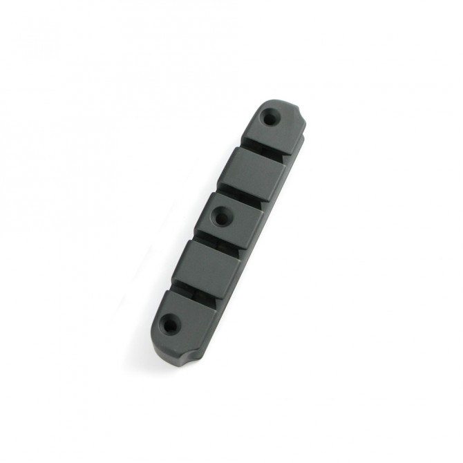 Hipshot DStyle 2Piece 5String Tailpiece Only .656 Bass Bridge Black 16.5mm Spacing