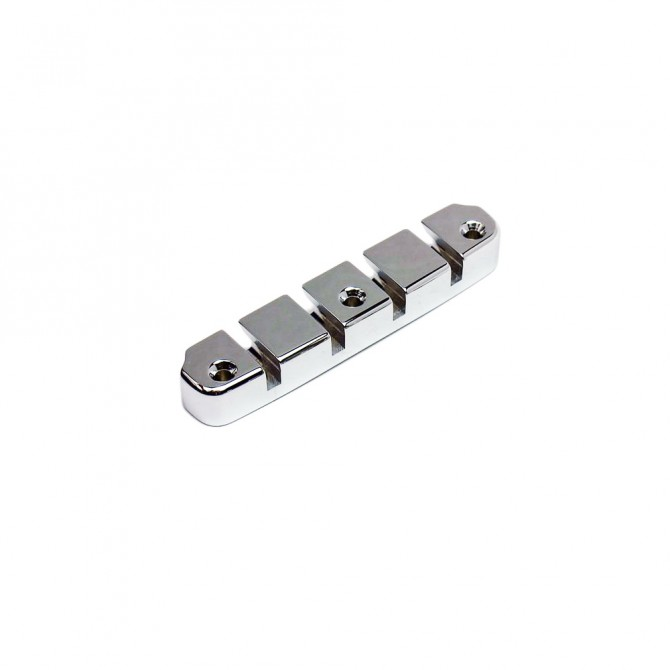 Hipshot DStyle 2Piece 6String Tailpiece Only .656 Bass Bridge Chrome 16.5mm Spacing
