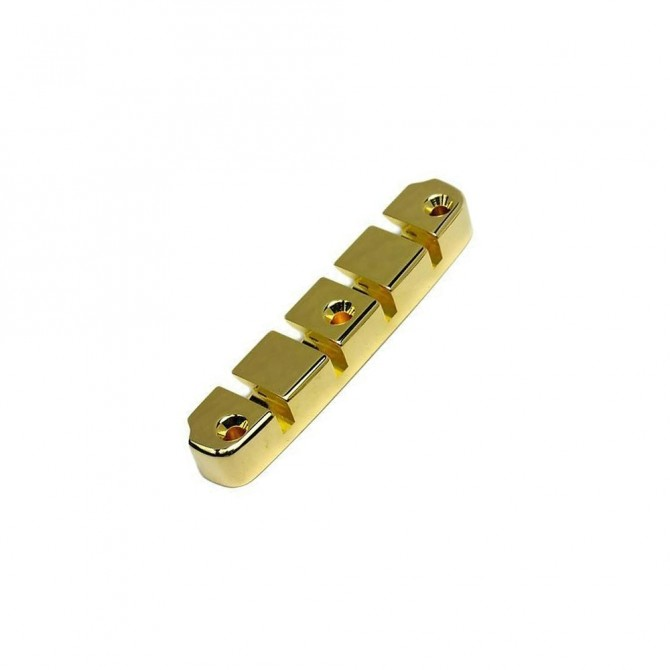 Hipshot DStyle 2Piece 6String .750 Tailpiece Only Bass Bridge Gold 19mm Spacing