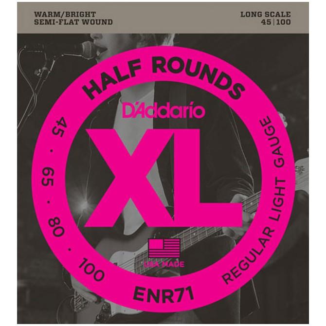 Daddario (Custom Gauges) ENR71 Half-Rounds (50 - 70 - 80 - 100)