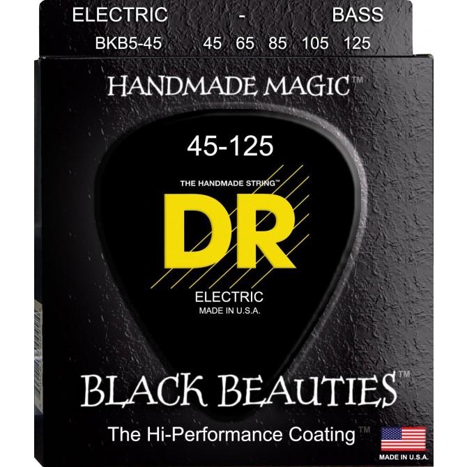 DR BKB5-45 Black Beauties 5 String Medium (45 - 65 - 85 - 105 - 125) Long Scale