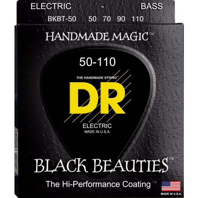 DR BKBT-50 Black Beauties 4 String Heavy Taper (50 - 70 - 90 - 110) Long Scale