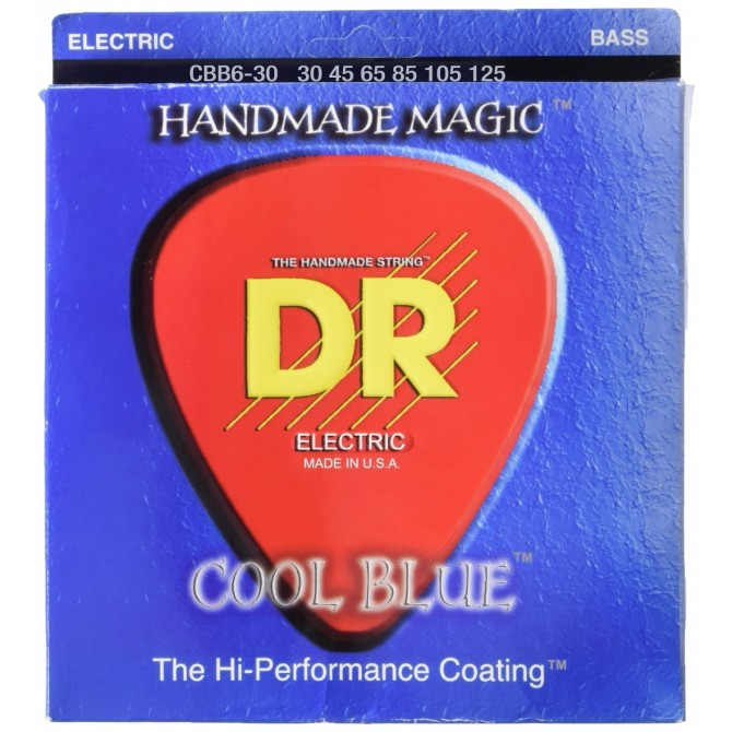 DR CBB6-30 Cool Blue 6 String Medium (30 - 45 - 65 - 85 - 105 - 125) Long Scale