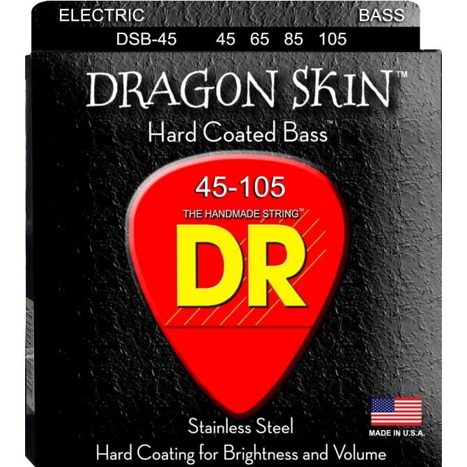 DR DSB-45 Dragon Skin 4 String Medium (45 - 65 - 85 - 105) Long Scale