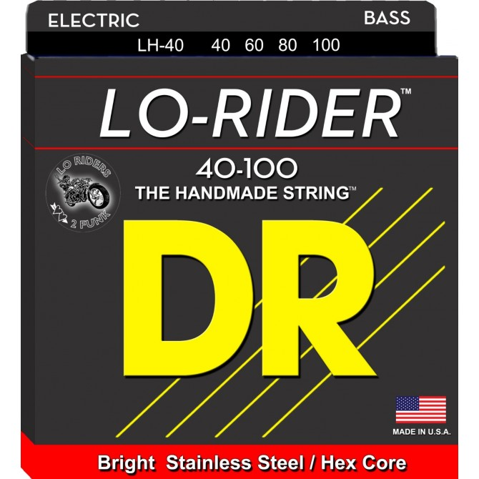 DR LH-40 Lo Rider 4 String Light (40 - 60 - 80 - 100) Long Scale