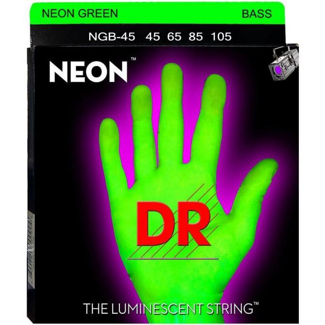 DR NGB-45 Neon Hi Def Green 4 String Medium (45 - 65 - 85 - 105) Long Scale