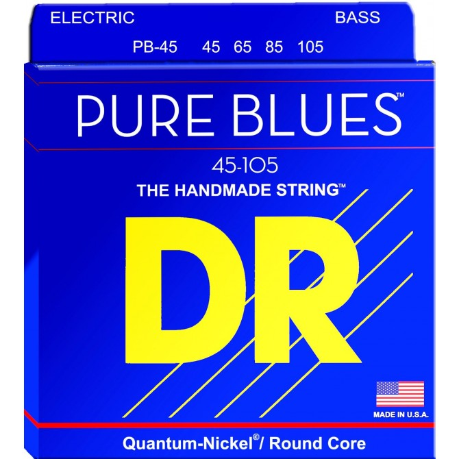 DR PB-45 Pure Blues 4 String Medium (45 - 65 - 85 - 105) Long Scale