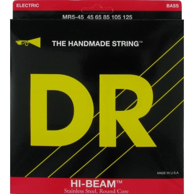 DR MR5-45 Hi Beam 5 String Medium (45 - 65 - 85 - 105 - 125) Long Scale